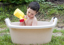 Bathing child Royalty Free Stock Image