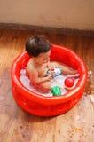 Bathing child Royalty Free Stock Photo