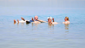 Bathing in the Dead Sea Royalty Free Stock Photo