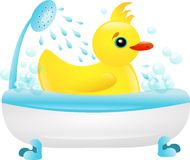 Bathing duckling Royalty Free Stock Photography