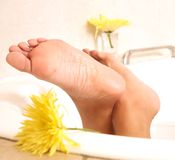 Bathing feet Royalty Free Stock Photo