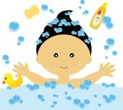 Bathing Fun (Boy) Royalty Free Stock Images