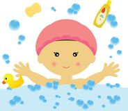Bathing Fun (Girl) Stock Image