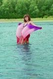 Bathing girl Royalty Free Stock Photos
