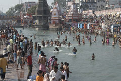 Bathing in Haridwar 4 Stock Photos