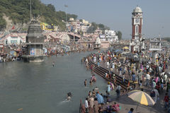 Bathing in Haridwar 5 Stock Photos
