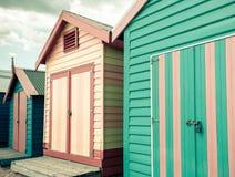 Bathing houses at Brighton Beach, Australia Stock Photography