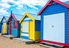 Bathing houses at Brighton Beach, Australia royalty free stock image