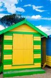 Bathing houses at Brighton Beach, Australia Royalty Free Stock Photo