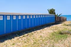 Bathing-huts. Barletta. Puglia. Italy. Royalty Free Stock Images
