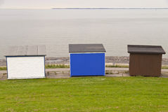Bathing Huts Royalty Free Stock Photography