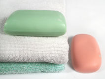 Bathing items Royalty Free Stock Images