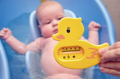 Bathing of the kid Royalty Free Stock Photography