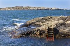 Bathing ladder Royalty Free Stock Photography