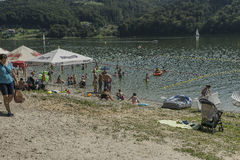 Bathing lake Royalty Free Stock Images