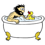 Bathing man Stock Image