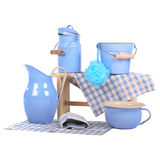 Bathing metallic items Stock Image