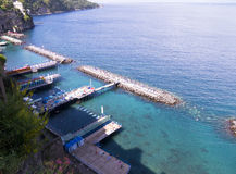 Bathing Platforms at Sorrento Royalty Free Stock Image