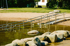 Bathing ramp Royalty Free Stock Photo