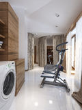 Bathing room rustic style Royalty Free Stock Image