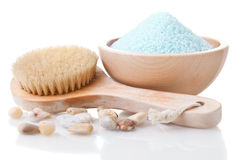 Bathing salt Stock Images