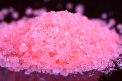 Bathing salt crystals Stock Images