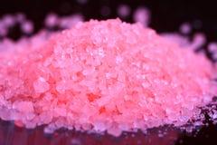 Bathing salt crystals stock images