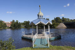 Bathing at St. Peter and St. Paul. Sestroretsk. Russia. Royalty Free Stock Image