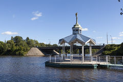 Bathing at St. Peter and St. Paul. Sestroretsk. Russia. Stock Photos