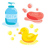 Bathing stuff Stock Images