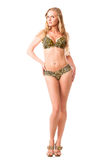 In a bathing suit with leopard pattern Royalty Free Stock Photo