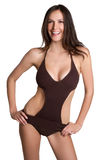Bathing Suit Woman. Summer woman wearing bathing suit royalty free stock photography