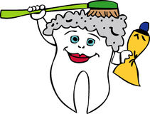 Bathing Tooth Royalty Free Stock Photos
