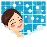 Bathing Woman Relaxing Royalty Free Stock Images
