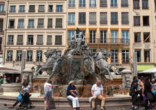 Batholdi fountain La Garonne et ses affluents Royalty Free Stock Photos
