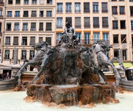 Batholdi fountain La Garonne et ses affluents Royalty Free Stock Photography
