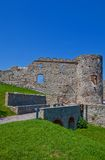 Bathory palace (XVI c.) of Devin castle. Bratislava, Slovakia. Ruins of Bathory palace (circa XVI c.) of Devin castle (founded in IX c.). Bratislava, Slovakia Royalty Free Stock Photo