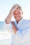 Bathrobe beach Royalty Free Stock Photography
