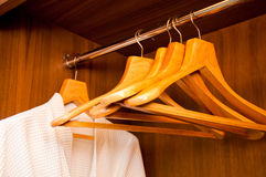 Bathrobe and Hangers Royalty Free Stock Photos