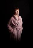 bathrobe kobiety potomstwa Obrazy Royalty Free