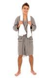 bathrobe mężczyzna Zdjęcie Stock