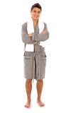 bathrobe mężczyzna Zdjęcia Stock