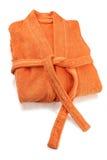 Bathrobe Orange. Isolated on white Stock Photography
