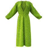 Bathrobe. Robe made of green grass. isolated on white Royalty Free Stock Images