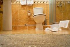 Bathrobe, shower cubicle. Stock Images
