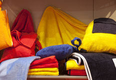 Bathrobe and towels Stock Photo