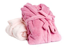 Bathrobes cor-de-rosa Foto de Stock Royalty Free
