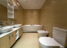 Bathroom. New designer equipment modern bathroom Stock Photo