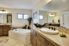 Bathroom. Wide angle view of bathroom Royalty Free Stock Images