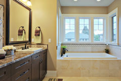 Bathroom. Luxury bathroom with granite countertops and flooring Royalty Free Stock Images